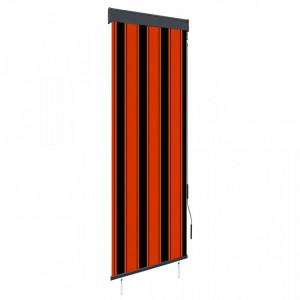 Jaluzea tip rulou de exterior, portocaliu și maro, 60 x 250 cm