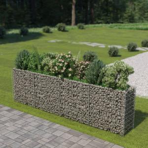 Jardinieră gabion din oțel galvanizat, 360 x 50 x 100 cm