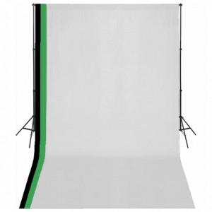 Kit studio foto cu 3 decoruri și ramă ajustabilă, 3 x 5 m