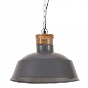 Lampă suspendată industrială, gri, 42 cm E27