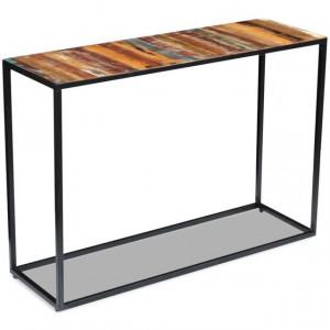 Masă consolă, lemn reciclat de esență tare, 110x35x76 cm