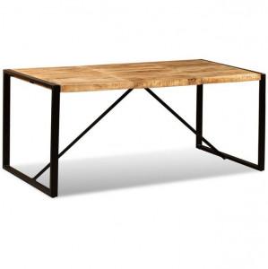 Masă de bucătărie, lemn masiv de mango nefinisat, 180 cm
