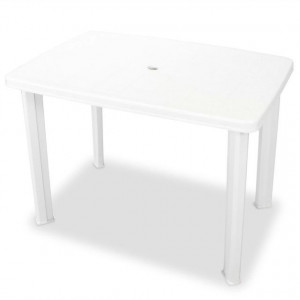 Masă de grădină 101x68x72 cm plastic, alb
