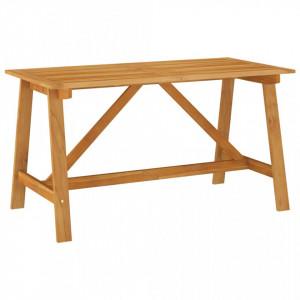 Masă de grădină, 140 x 70 x 73,5 cm, lemn masiv de acacia