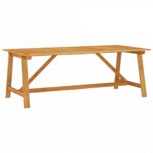 Masă de grădină, 206 x 100 x 74 cm, lemn masiv de acacia