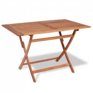 Masă de grădină pliabilă, 120 x 70 x 75 cm, lemn de tec