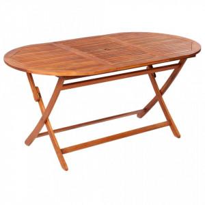 Masă de grădină pliabilă, 160x85x75 cm, lemn masiv de acacia