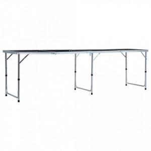 Masă de joc cu bere tip ping pong, pliabilă, negru, 240 cm