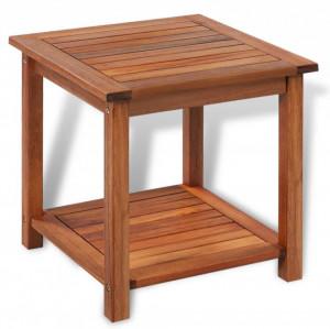 Masă laterală, 45x45x45 cm, lemn solid de salcâm