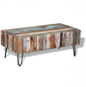 Măsuță de cafea, lemn masiv reciclat, 100 x 50 x 38 cm