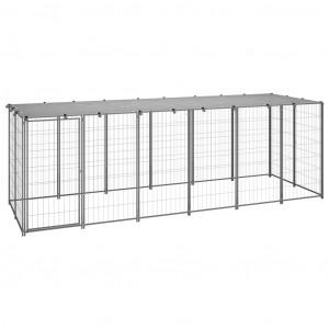 Padoc pentru câini, argintiu, 330x110x110 cm, oțel