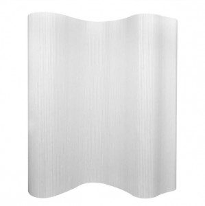 Paravan de cameră, alb, 250 x 165 cm, bambus