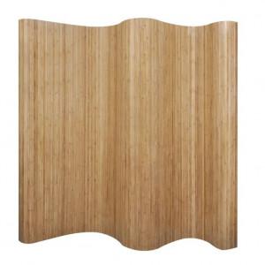 Paravan de cameră din bambus, culoare naturală, 250 x 195 cm