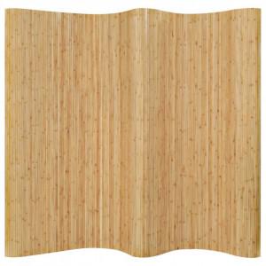 Paravan de cameră, natural, 250 x 165 cm, bambus