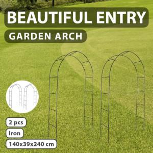 Pergolă arcuită pentru grădină, 2 buc