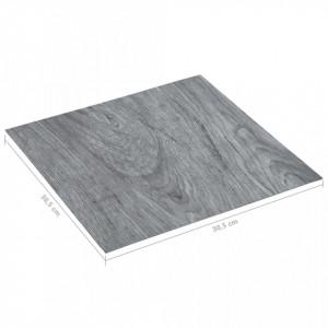 Plăci de pardoseală autoadezive, gri deschis, 5,11 m² PVC