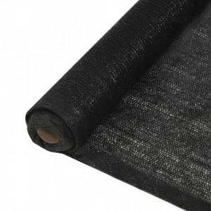 Plasă pentru intimitate, negru, 1,5 x 10 m, HDPE, 150 g/m²