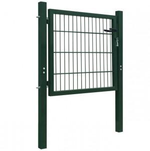 Poartă pentru gard din oțel, 106 x 150 cm, verde