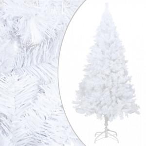 Pom de Crăciun artificial cu ramuri groase, alb, 150 cm, PVC