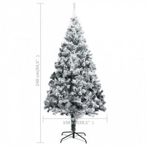 Pom de Crăciun artificial cu zăpadă, verde, 240 cm, PVC