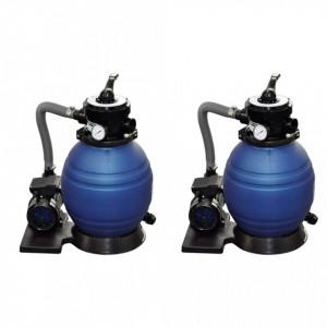 Pompe filtru cu nisip, 2 buc., 400 W, 11000 l/h