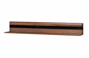 Porti 35 (raft suspendat) antique oak/black glass