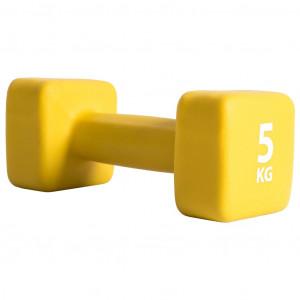 Pure2Improve Ganteră, galben, neopren, 5 kg