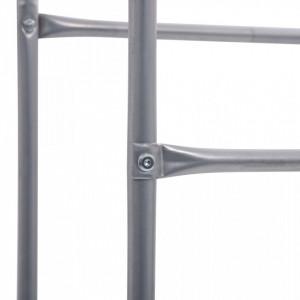 Raft de depozitare pentru 3 lăzi, argintiu, 50x33x116 cm, oțel
