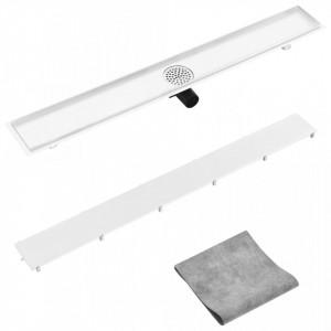 Rigolă de duș cu capac 2-în-1, 103 x 14 cm, oțel inoxidabil
