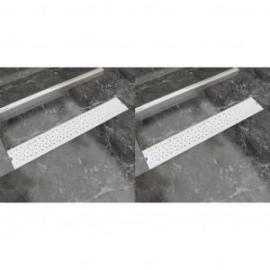 Rigolă duș liniară, 2 buc., 730x140 mm, oțel inoxidabil, bule