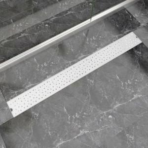 Rigolă duș liniară, model bule, oțel inoxidabil, 1030 x 140 mm