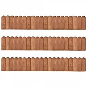 Role de bordură, 3 buc., 120 cm, lemn de pin tratat