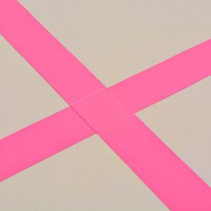 Saltea gimnastică gonflabilă cu pompă roz 600x100x10cm PVC