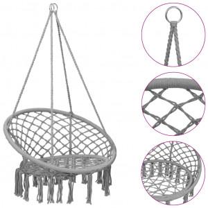 Scaun balansoar hamac, gri, 80 cm