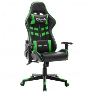 Scaun de jocuri, negru și verde, piele artificială