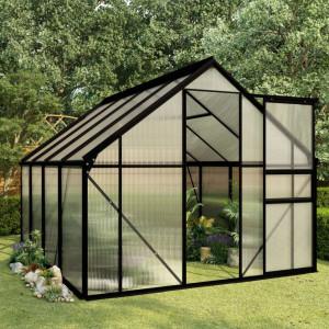 Seră, antracit, 4,75 m², aluminiu