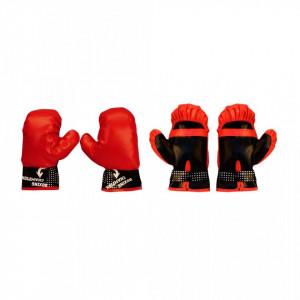 Set pară de box Avento Junior negru/roșu 41BE