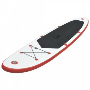 Set placă SUP, placă SUP surfing, roșu și alb, gonflabil