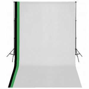 Set studio foto cu 3 fundaluri de bumbac, cadru reglabil, 3x5 m