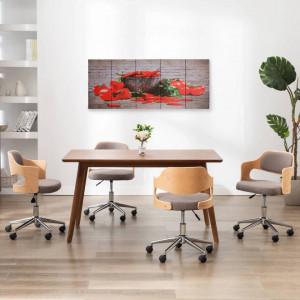 Set tablouri din pânză, imprimeu paprika, multicolor, 150x60 cm
