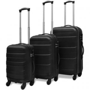 Set valize rigide negre, 3 buc.