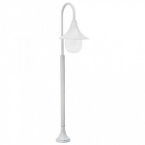 Stâlp de iluminat pentru grădină, alb, 120 cm, aluminiu, E27