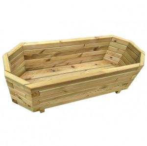 Strat înălțat de grădină, 100 x 40 x 31 cm, lemn de pin tratat