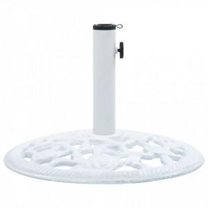Suport de umbrelă, alb, 12 kg, fontă, 48 cm