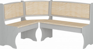 ZKU-01 (kitchen corner bench) MONACO/CRAFT WHITE