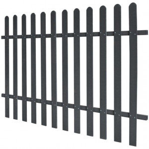 Gard din șipci din WPC, 200 x 120 cm, gri
