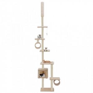 Ansamblu pisici, stâlpi funie sisal 260 cm, Bej