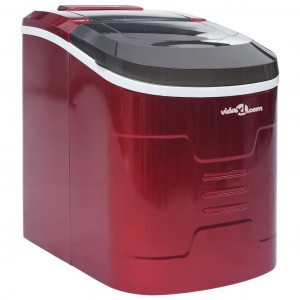 Aparat de făcut cuburi de gheață, roșu, 2,4 L, 15 kg/24 h