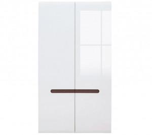 Azteca 017 dulap szf2d/21/11 white/white high gloss