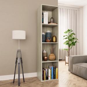 Bibliotecă/Comodă TV, stejar Sonoma, 36 x 30 x 143 cm, PAL